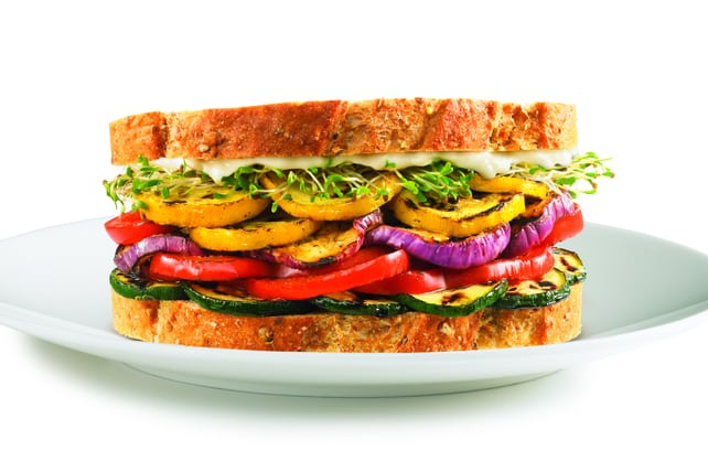 Stuff Veggies into Sandwiches