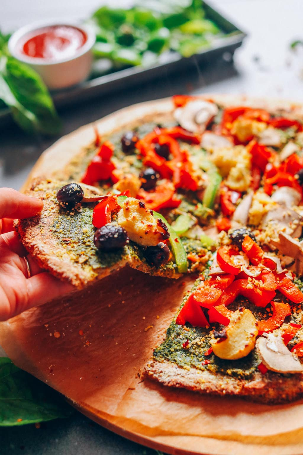Experiment with the Pizza Crust Veggies