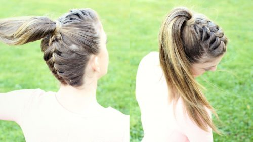 Criss Cross Style Ponytail