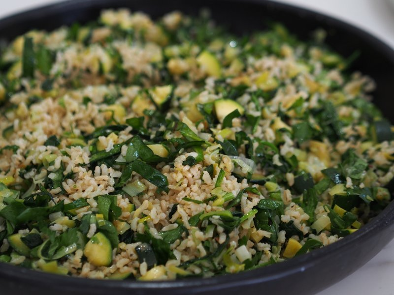 adding green veggies